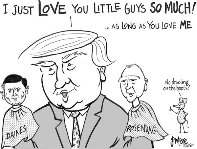 Trump Daines Rosie